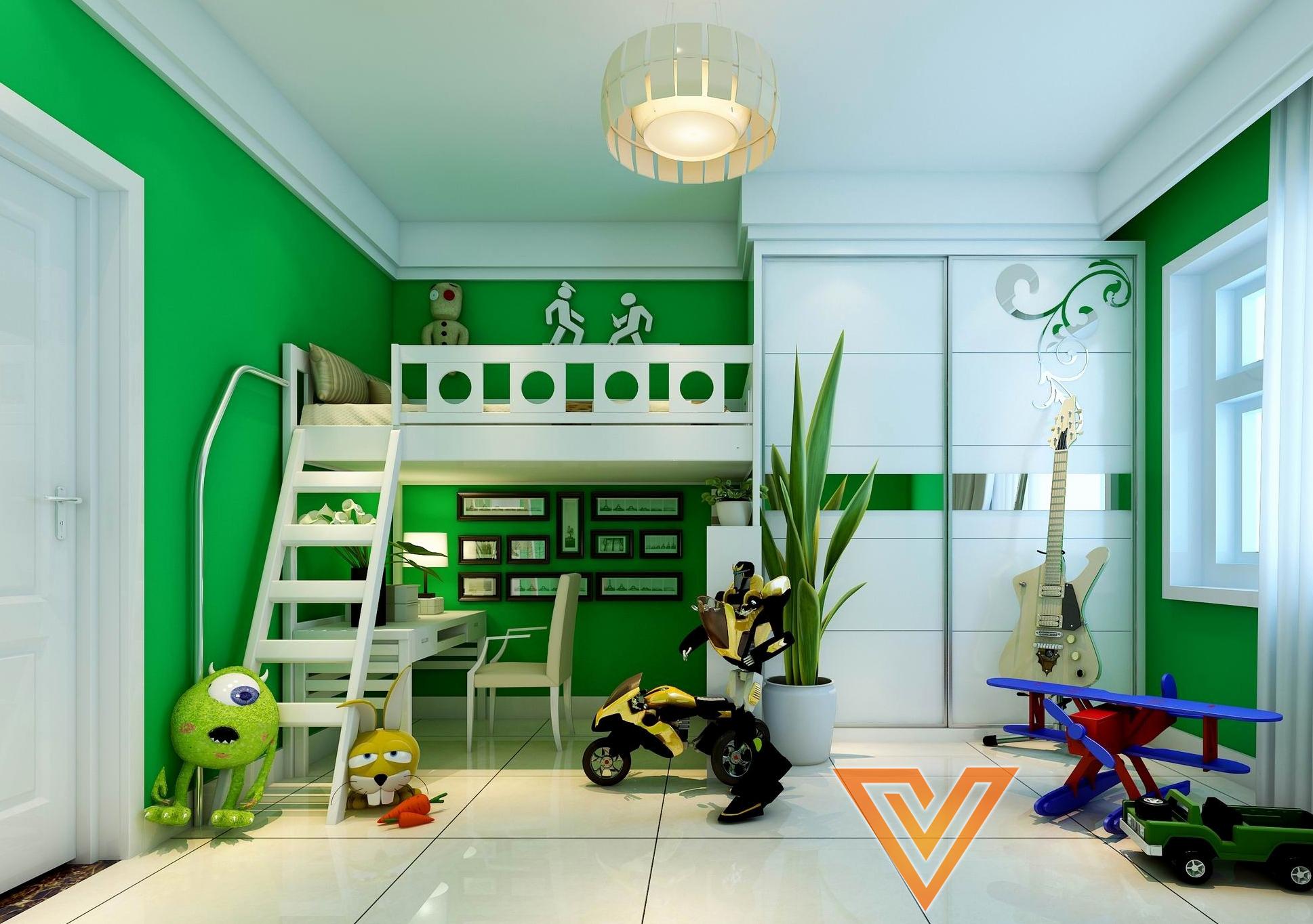 kid room 3ds max elegant kids bedroom 3d model interior design visionarch blog. Black Bedroom Furniture Sets. Home Design Ideas